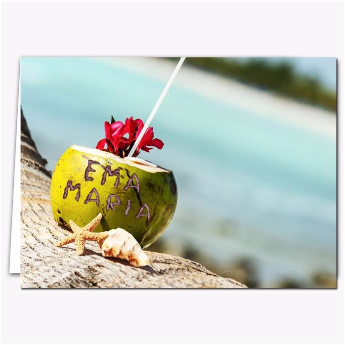 Felicitare Personalizata Exotic Coconut Drink