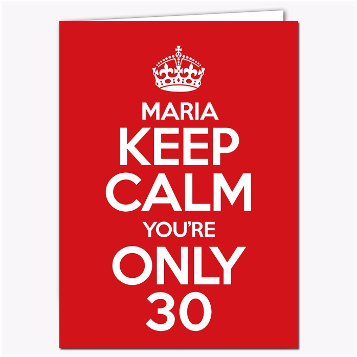 Felicitare Personalizata Keep Calm