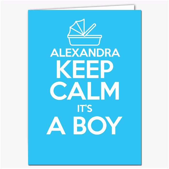 Felicitare Personalizata Keep Calm Its A Boy