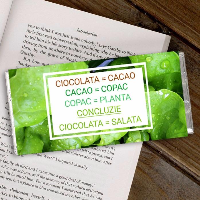Ciocolata Personalizata Ciocolata Sanatoasa
