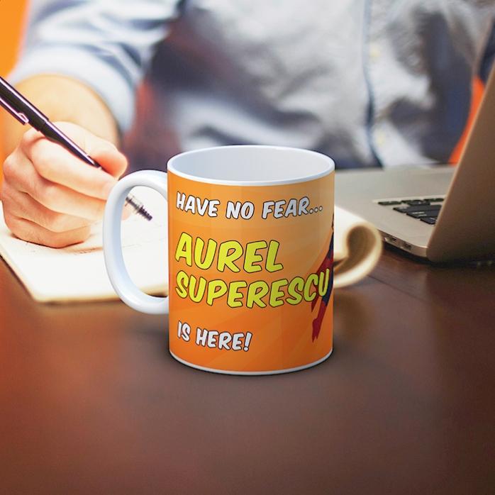 Cana Personalizata Super Erou