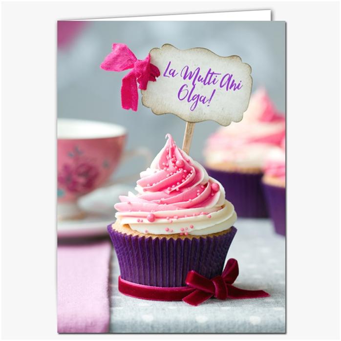 Felicitare Personalizata Cupcake Mov