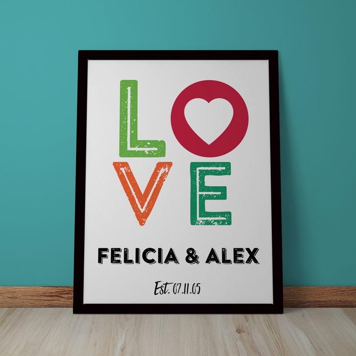Tablou Personalizat Love