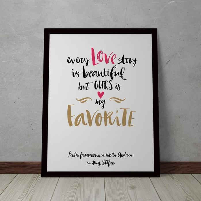 Tablou Personalizat Love Story