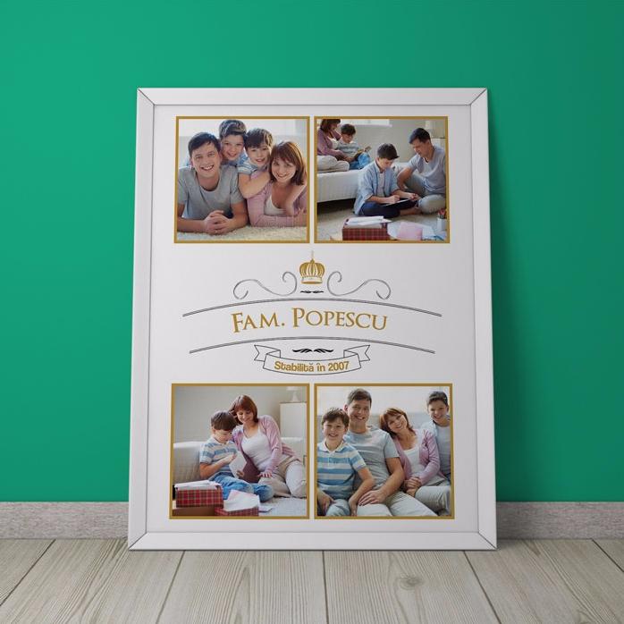Tablou Personalizat Cu 4 Poze De Familie