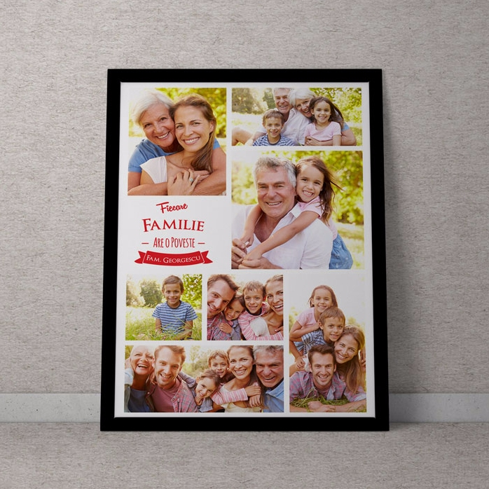Tablou Personalizat Cu 7 Poze De Familie