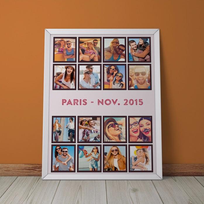 Tablou Personalizat Cu 16 Poze De Vacanta